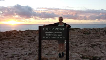 Steep Point, meest westelijke punt van Australië. Het einde van de wereld, zo mooi!!