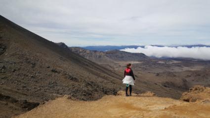 Tongariro crossing. 8 uur wandelen over een vulkaan, met een fantastisch uitzicht.