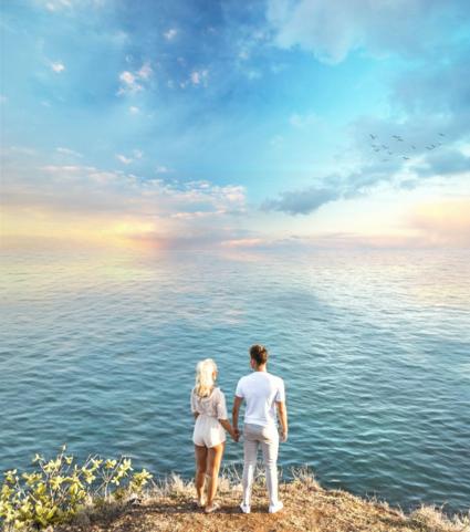 Balangan beach couple