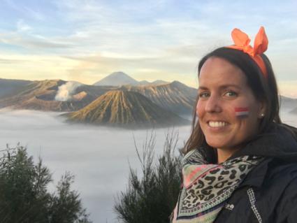 Koningsdag bij de Bromo vulkaan