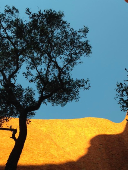 Zonsondergang op Uluru