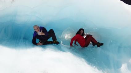 IJspret Fox Glacier Nieuw Zeeland
