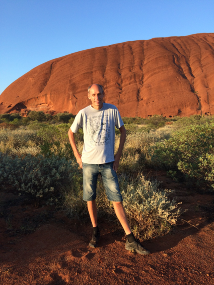 Ik bij Uluru