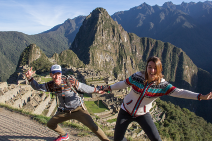 Yihoee! We're in Machu Picchu!