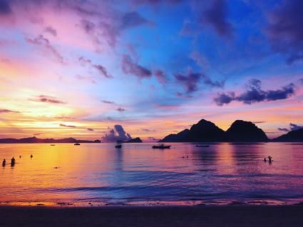 Filipijnse zonsondergang