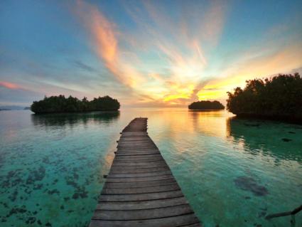 Sunrise at Pulau Gam, Papua New Guinea