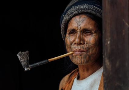 The face-tattooed women in Chin State Myanmar