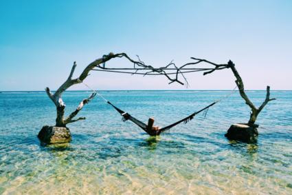 De horizon in Bali