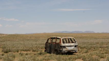 deserted car