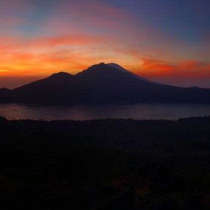 Morning at Mount and Lake Batur