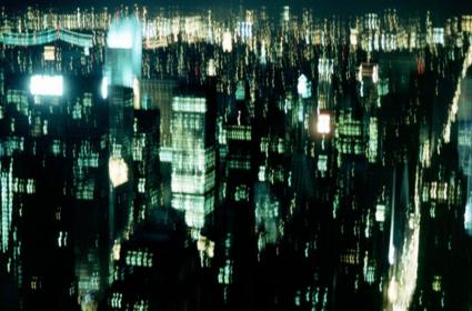 Manhattan vanaf het World Trade Center. Bewogen doordat het gebouw wiegde in de wind!
