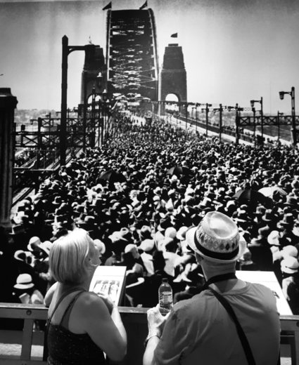 The opening of the Tower Bridge in Sydney, we were there!