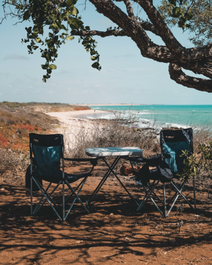 Private beach camping